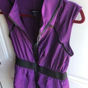 bebe Dresses - Purple Bebe Zipup Dress